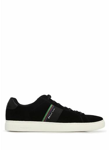 PS by Paul Smith PS Paul Smith  Şerit Detaylı Erkek Süet Sneaker 101549305 Siyah